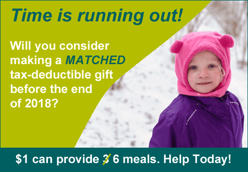 Time is running out!  will you consider making a MATCHED tax-deductible gift before the end of 2018?