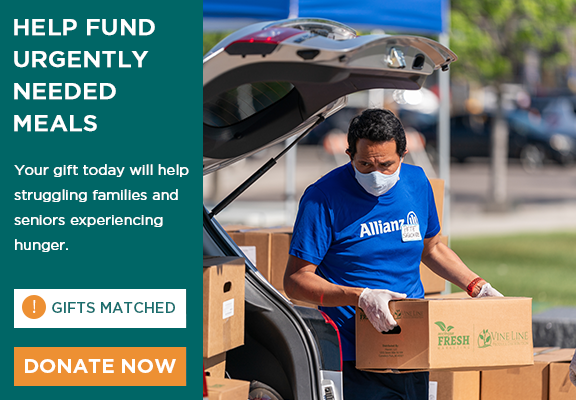 Help fund urgently needed meals for your neighbors experiencing hunger.
